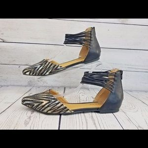 Rampage strappy pointed flat 9.5